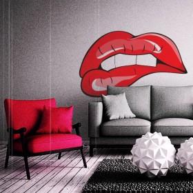 Sticker Bouche sensuelle