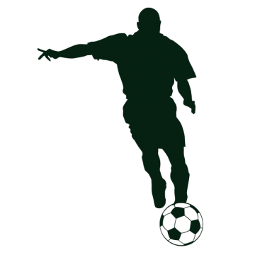 Sticker Ardoise Footballeur droit au but 1