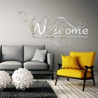 Sticker miroir Welcome Bienvenue