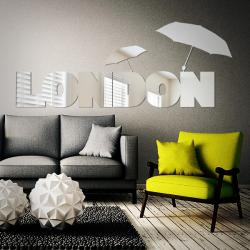 Sticker miroir London Umbrella