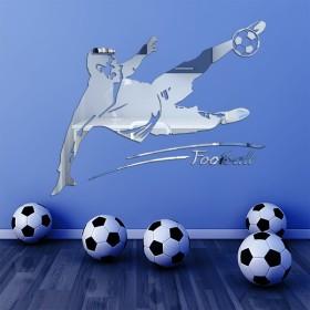 Sticker miroir Footballeur
