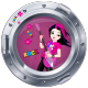 Sticker hublot Music Girl