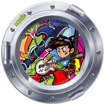 Sticker hublot Music Boy