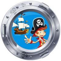 Sticker hublot Chambre des Pirates