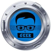 Sticker hublot Geek