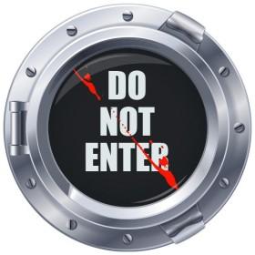 Sticker hublot Do Not Enter