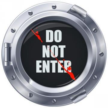 Sticker hublot Do Not Enter