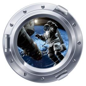 Sticker hublot et Astronaute