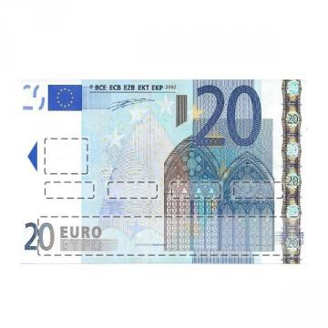 sticker CB Billet de 20 Euros