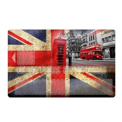 sticker CB London Bus et Phone Box