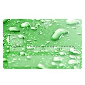 sticker CB Goutte d'eau Fond Vert