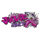 Sticker Tag Hip Hop Fille personnalisable