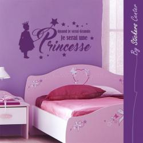 Sticker quand je serai grande je serai une princesse