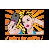 Sticker Pop art selfie