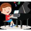 Sticker Petit pianiste garçon