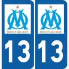 Plaque voiture avec Logo OM