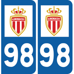 Plaque voiture AS Monaco