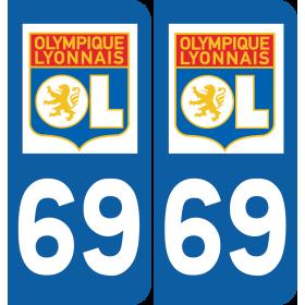 Plaque voiture Olympique Lyonnais