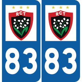 Plaque voiture RC Toulon
