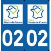 Sticker Département 02