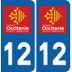 Sticker Département 12