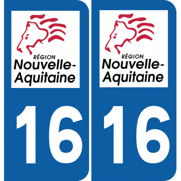 Sticker Département 16