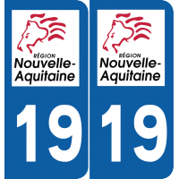 Sticker Département 19