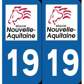 Sticker Département 19