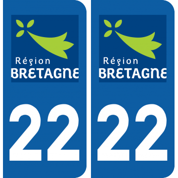Sticker Département 22