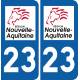 Sticker Département 23