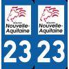 Sticker Département 23