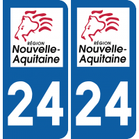 Sticker Département 24