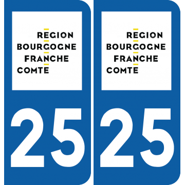 Sticker Département 25
