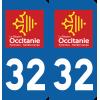 Sticker Département 32