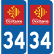 Sticker Département 34