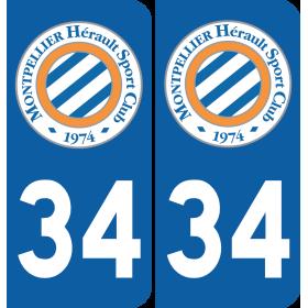 Plaque voiture Montpellier Hérault SC