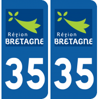 Sticker Département 35