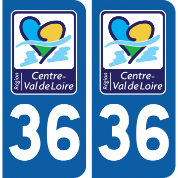 Sticker Département 36