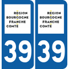 Sticker Département 39