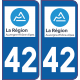 Sticker Département 42