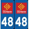 Sticker Département 48
