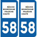 Sticker Département 58