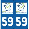 Sticker Département 59