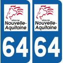 Sticker Département 64
