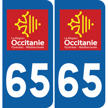 Sticker Département 65