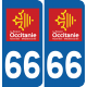 Sticker Département 66