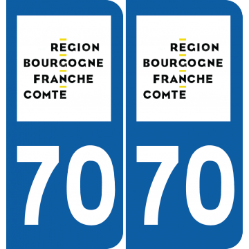 Sticker Département 70