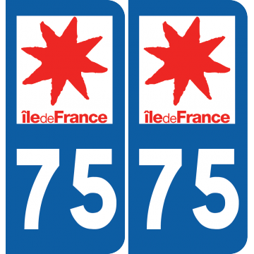 Sticker Département 75