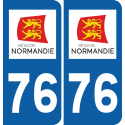 Sticker Département 76