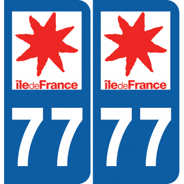 Sticker Département 77